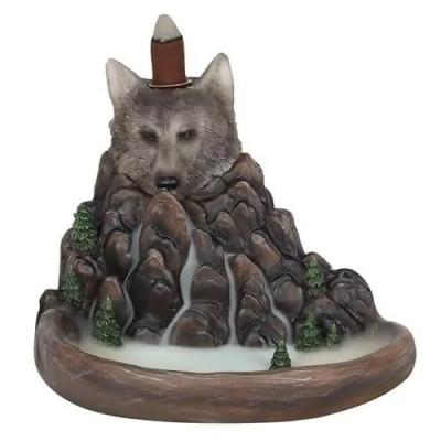 Grauer Wolf Klippen Backflow Räuchergefäß